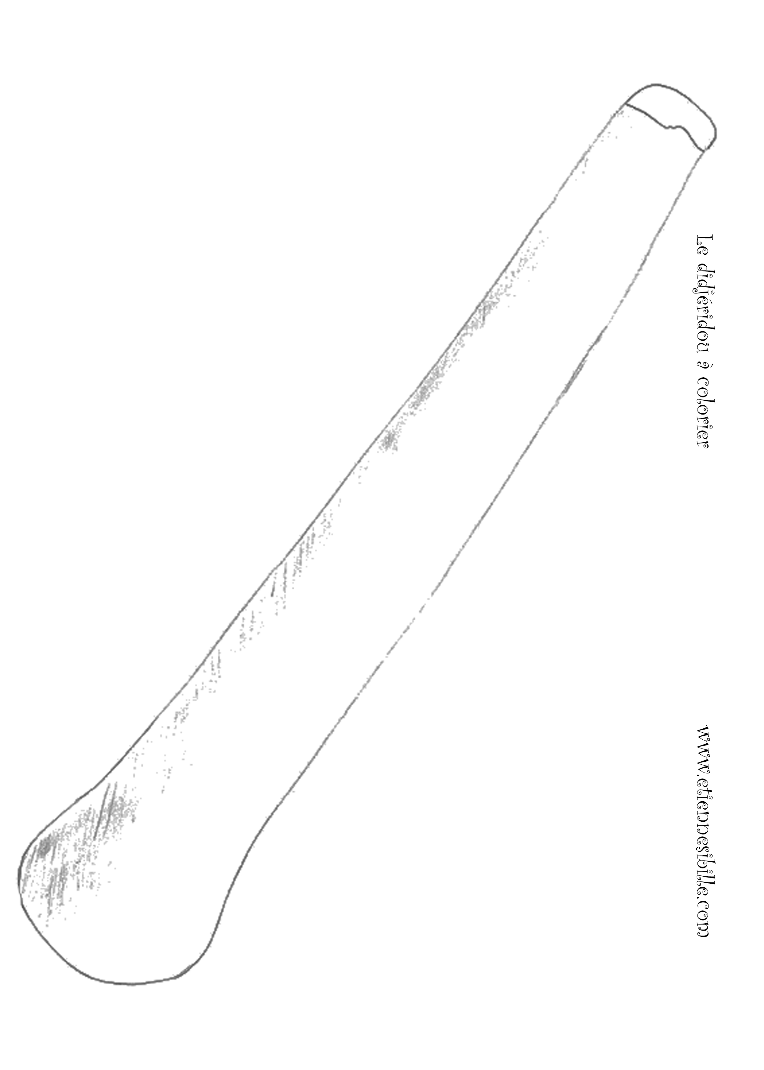 coloriage instrument didjeridou Etienne SIBILLE
